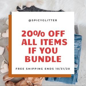 💥20% OFF BUNDLES + FREE shipping ends 10/32/20💥